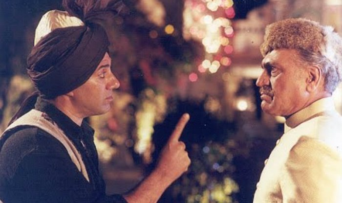 Sunny Deol with Amresh Puri In Gadar Aik Prem Katha. One of the best 1947 partition movies.