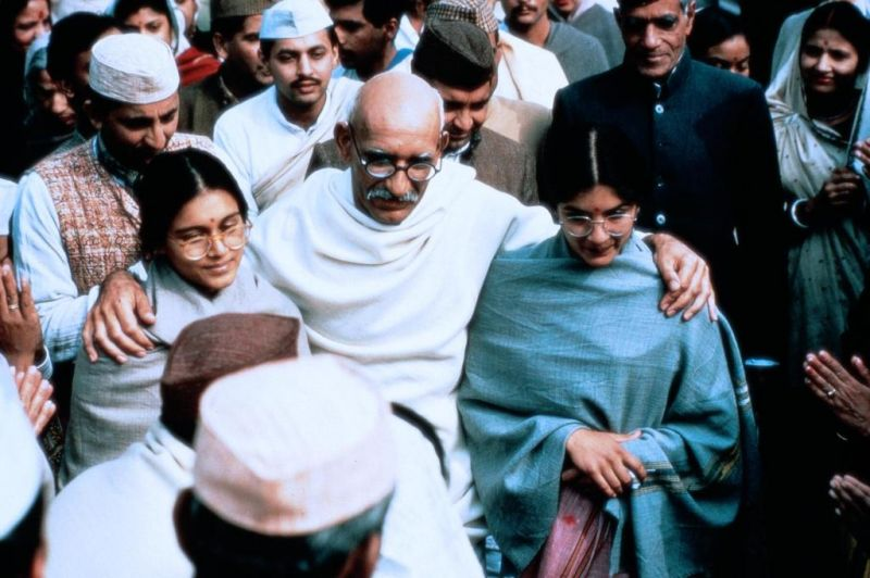 Gandhi along with his followers in India Pakistan Partition Movies